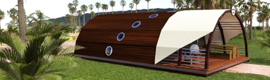 maritim glamping tube luxus mobilheim kaufen glamping. Black Bedroom Furniture Sets. Home Design Ideas